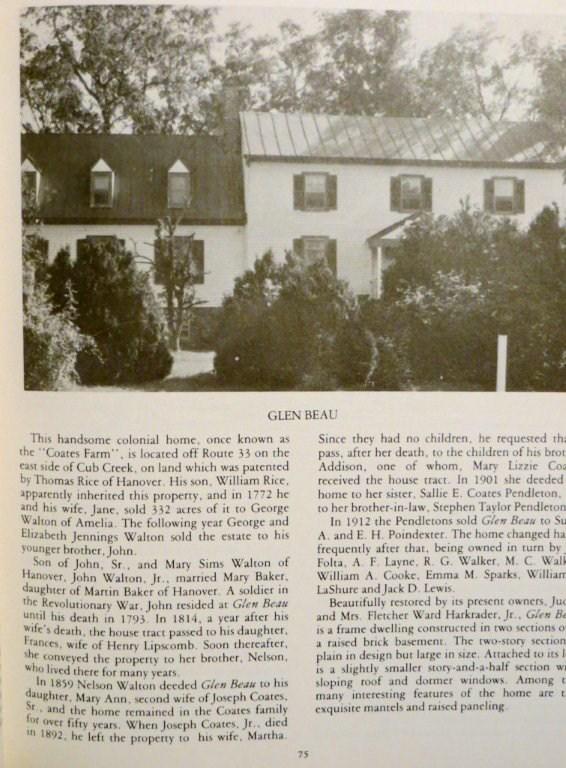 Walton ancestral home