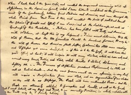 Adam's letter July 3, 1776